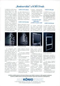 Schüco AWS60 alumínium nyílászáró