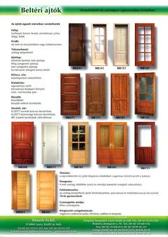 Némethfa beltéri ajtók