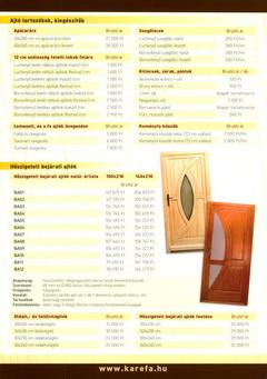 Karefa fa ajtó és ablak