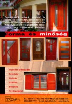 Tofa fa ajtó és ablak